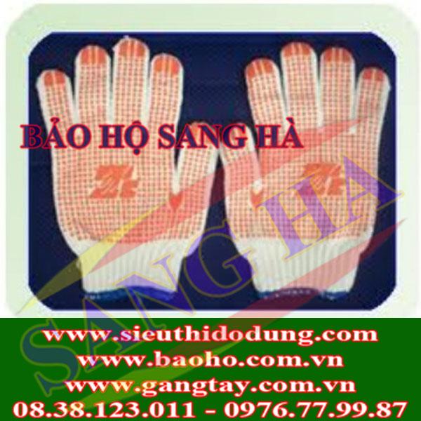 Găng tay len phủ hạt nhựa chống trơn 70g