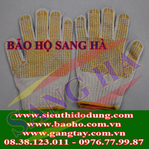 Găng tay len phủ hạt nhựa VN - 55