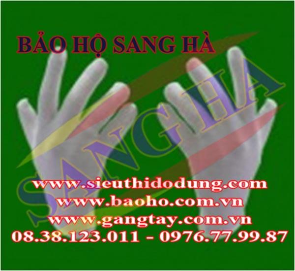 Găng tay thun PE trắng - Loại dày