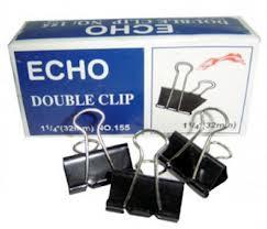 Kẹp bướm Echo Double Clip 25mm (12c/hộp)