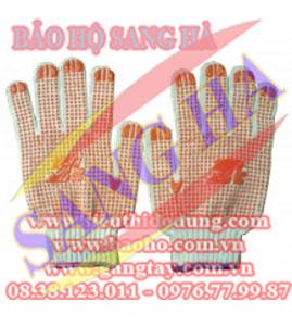 Găng tay len bảo hộ phủ hạt nhựa 80g