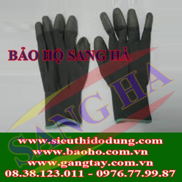Găng tay Hàn Quốc thun đen có cổ
