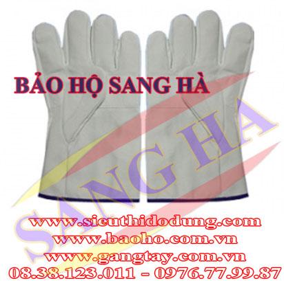 Găng tay da hàn ngắn cứng GDHN-C