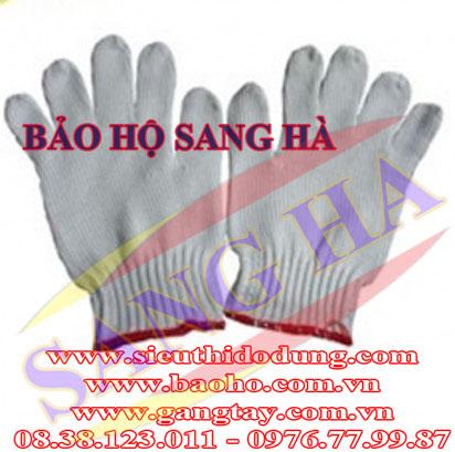 Găng tay len màu viền đỏ GTLDL