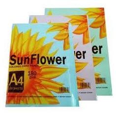 Giấy bìa màu SunFlower 180gms 5 màu (Thái Lan)