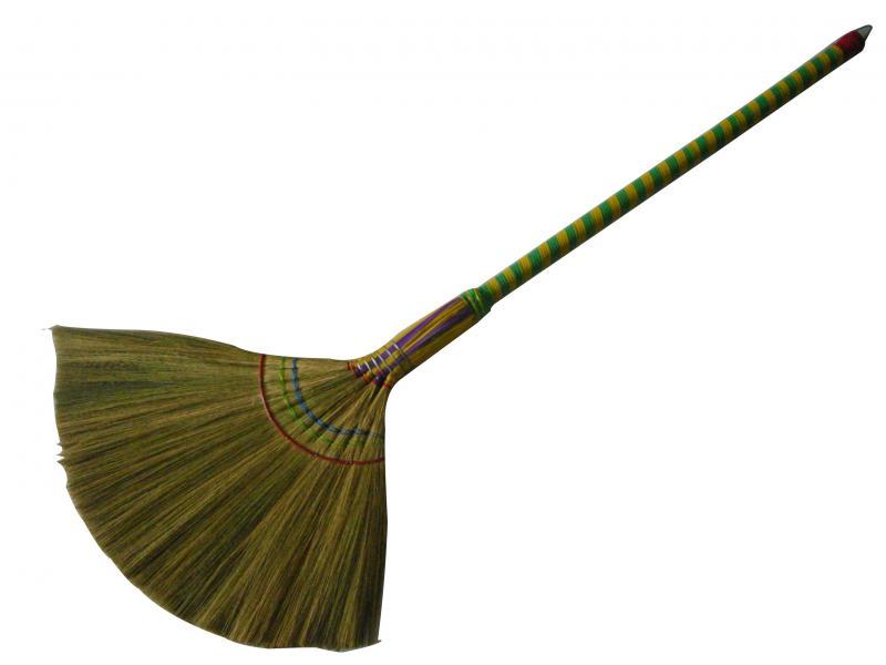 Chổi cỏ quấn sắt