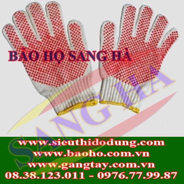 Găng tay len bảo hộ phủ hạt nhựa 70g