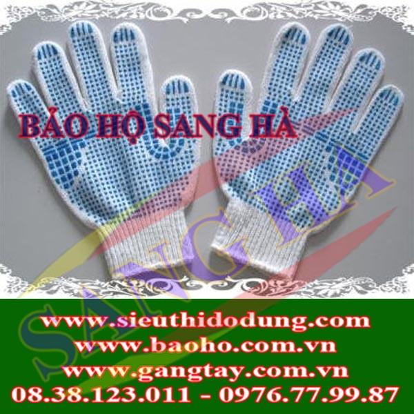 Găng tay sợi phủ hạt nhựa GHN-55g