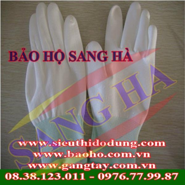 Găng tay Hàn Quốc thun trắng có cổ