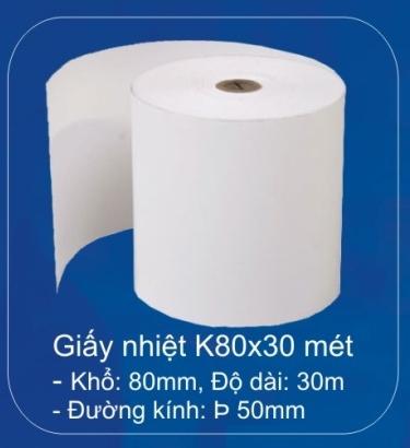 Giấy in nhiệ K80 - 50m