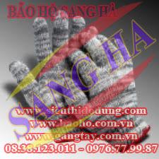 Găng tay dệt TC 7 kim màu muối tiêu 40g