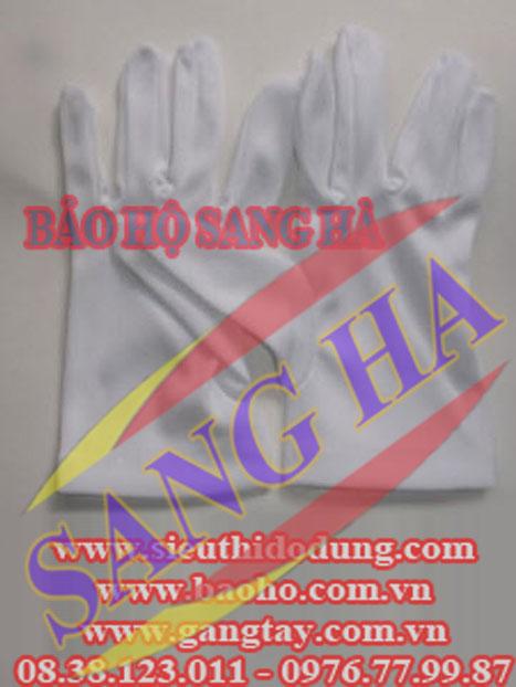 Găng tay thun PE trắng - Loại mỏng