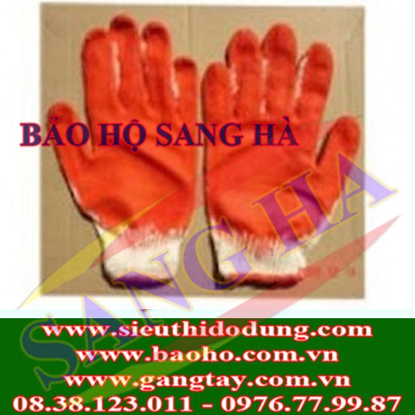 Găng tay dệt sợi, phủ cao su lòng bàn tay - Loại mỏng