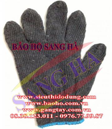 Găng tay sơi len màu đen 40g