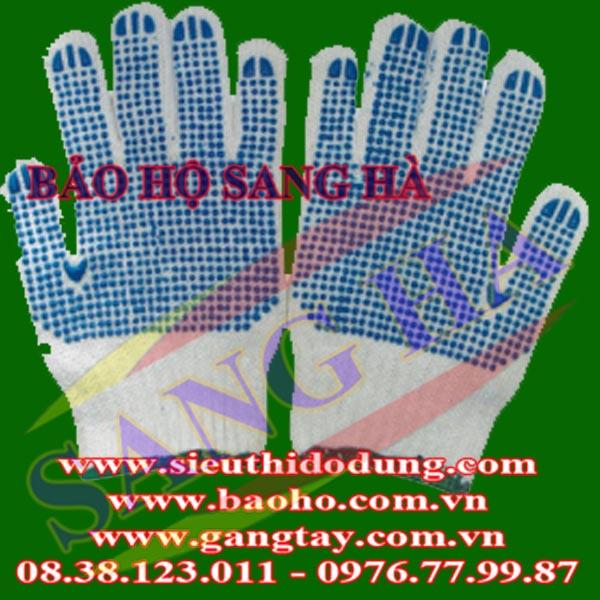 Găng tay len phủ hạt nhựa lòng bàn tay 70G