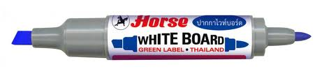 Bút lông bảng 2 đầu 1 màu Horse Twin White board blue