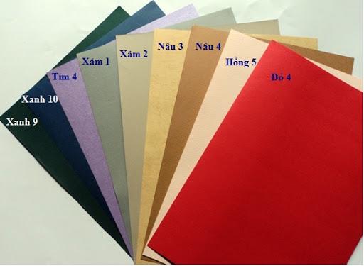 Bìa giấy đóng sổ A4 ngoại các mầu (100 tờ) (4 mầu cơ bản)