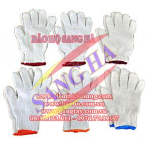 Găng tay dệt TC 7 kim màu xám nhạt 50g