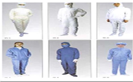 Quần áo phòng sạch chống tĩnh điện, SX, S, M, L, XL