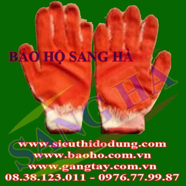 Găng tay len phủ cao su 1 mặt-35